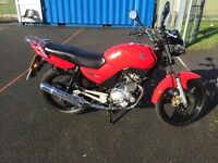 Yamaha YBR for sale, excellent condition, low mileage, fresh MOT, new tyre