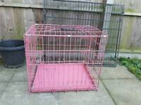 Pink puppy pen/carrier