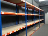 JOBLOT 10 bays of Rapid 1 industrial longspan shelving . ( pallet racking , storage )