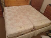 2 x Relaxomatic adjustable electric single bed (super king combined)
