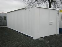 24ft x 10ft Anti Vandal Site Store Shipping Container Portable Cabin +LIGHTS & SOCKETS FITTED+ shed
