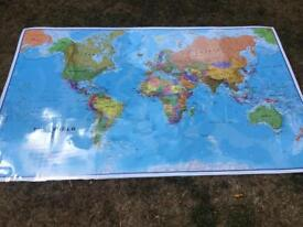 Laminated World Map Poster