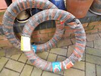 2 x 3.50x19 New motorcycle tyres and tubes