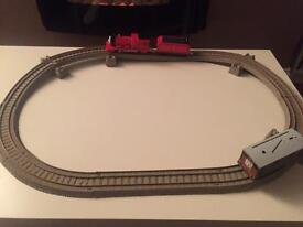 Track master train set with two trains
