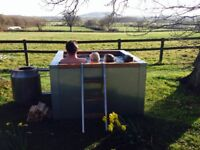 Stainless Steel Woodfired Hot Tub (OPEN TO SENSIBLE OFFERS) CAN DELIVER AT EXTRA COST