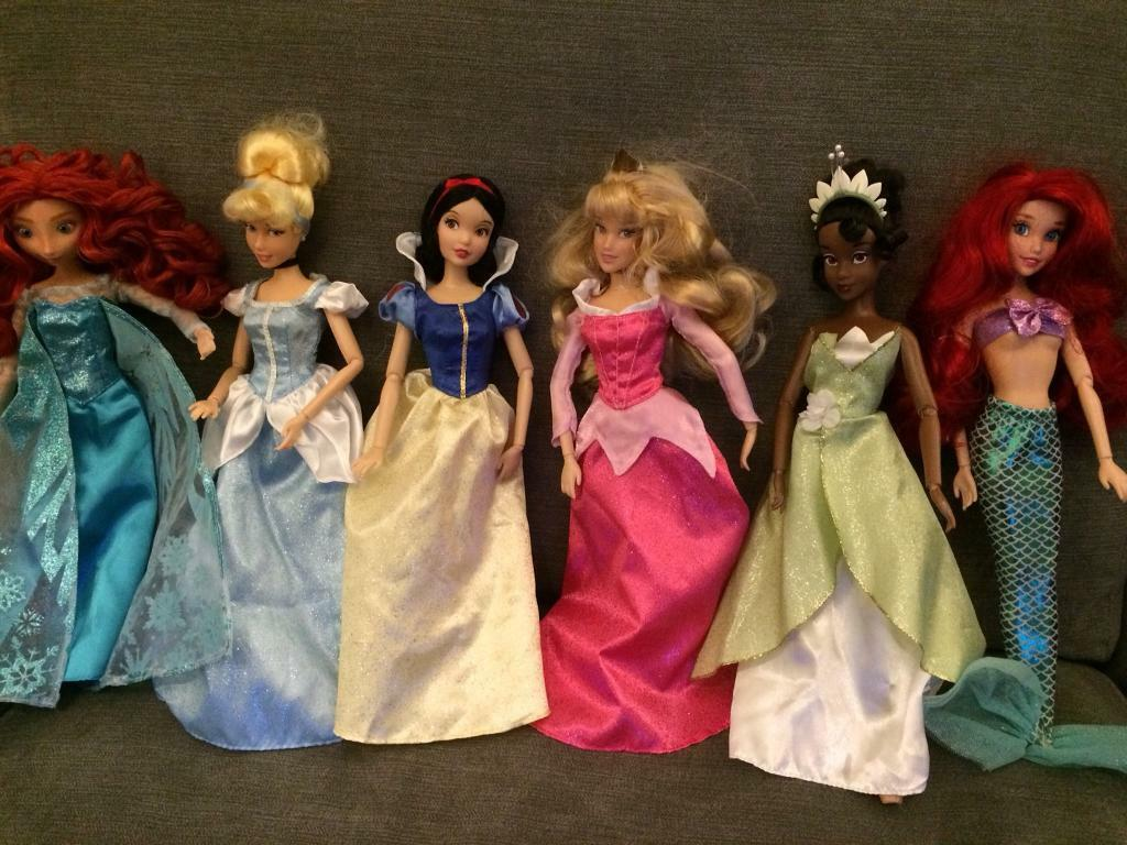 6 Disney Princess Dolls