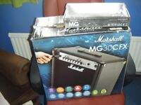 MARSHALL MG30CFX AMPLIFIER WITH FOOTSWITCH-V good cond-COLLECTION ONLY-OFFERS CONSIDERED