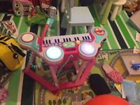 Kids piano drum toys with chair