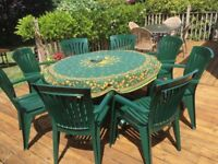 8-seater outdoor dining set