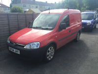 Vauxhall Combo 1.3 Diesel 5 Speed Manual Red Panel Van Great Condition 12 Months MOT