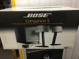 Bose Companion 5 Multimedia speaker system like new