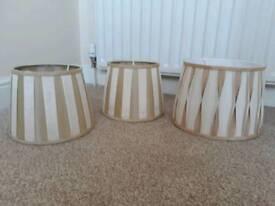 Dunelm 3 lamp shades