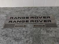 Set of 4 Range Rover Evoque Stainless steel sill tread plate covers