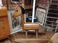 VINTAGE RETRO QUIRKY HANDMADE BESPOKE BARREL WOODEN ROCKING HORSE AS FEATURED ON TV!