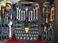Tool box and other tools and white overall