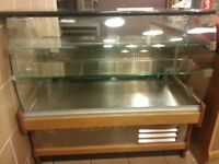 CAFE/BAKERY/REFRIGERATED DISPLAY FRIDGE / SERVE OVER COUNTER &; GRANITE TOP