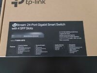 NEW and un-used TP-LINK T1600G-28TS JetStream 24-Port Gigabit Smart Network Switch with 4 SFP Slots
