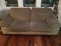 3 seater and 2 seater fabric sofa