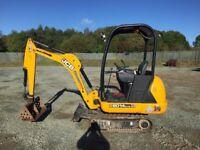 Mini digger hire with driver/free quotes/professional services at the right prices