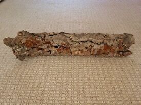"26"" Long Large Tubular Cork Bark Tube Vivarium Reptile Decoration Flower Arrangement Accessory"