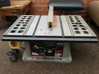 "Clark woodworker 10"" table saw ,1525 watts"