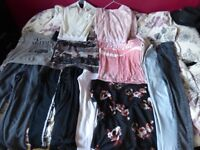 Loads of t shirts and tops, 3 coats and all in excellent condition from a smoke free home