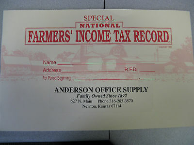 Mcleods National Farmers Income Tax Record Book New