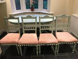 Shabby chic table and chairs set £125