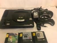 Sega megadrive console game setup
