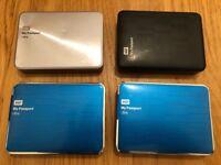 WD My Passport 2TB USB-3 Portable Hard Drives - Very Good Condition