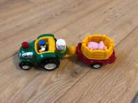 WOW Bertie and bumpy tractor and trailer