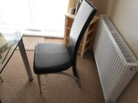 For Sale 4 Dinning room chairs as new £60 also glass table free needs attension