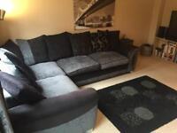 Large LHS corner sofa and footstool