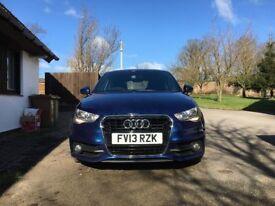 Scuba blue metallic Audi A1 S line sportback 1.6 Tdi 2013 full service history new discs pads fitted
