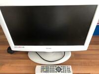 White technika 18.5 lcd tv with remote