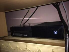 Xbox one with 2 controllers and games.