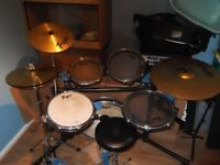 Traps shell-less acoustic drum kit (flats).