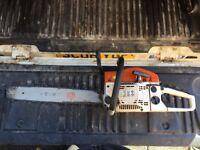 Petrol chainsaw 18 inch bar