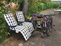 Job lot: bikes, garden chairs, shredder and mower