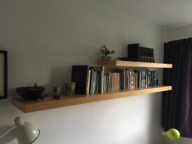 Ikea Lack Birch effect shelving