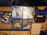 Play station 4 PS4 whit bundle of games and 2controllers