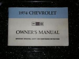 GM Owner's Manuals 1974 1980 1985