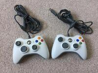 Two Xbox 360 wired controllers, will work on PC, Android etc