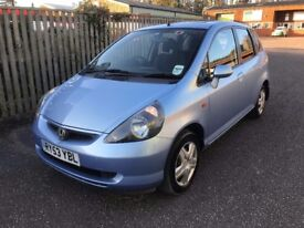 VERY TIDY HONDA JAZZ, NEW MOT, JUST SERVICED, 82K MILES, NEW TYRES AND BRAKES