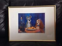 LADY AND THE TRAMP LIMITED EDITION DISNEY FILM CARTOON PICTURE