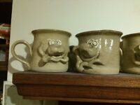 Ugly Mug Collection of 19 - Hand made large & small mugs, spoon rests, money box and piggy bank