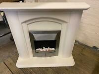 GORGEOUS ELECTRIC FIRE WITH FULL SURROUND IN EXCELLENT CONDITION