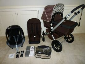 Bugaboo Cameleon 2-Pram/carrycot/Pushchair & Car seat-Fantastic Condition-Brown with Designer Hood