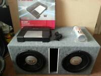 2 X JBL 1202D sub amp power cap car audio
