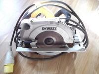110 V DeWalt circular saw